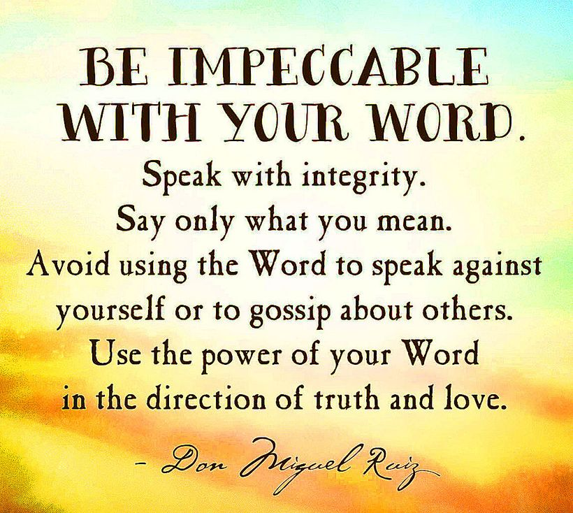 Image result for Be impeccable with your word