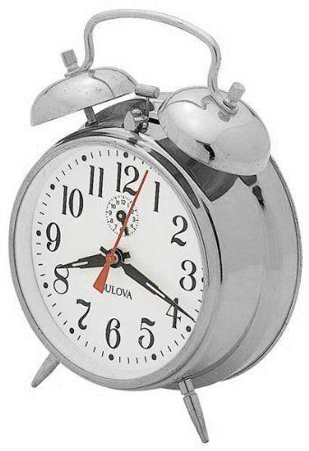 "<strong><a href=""http://www.ebay.com/itm/Bulova-Bellman-II-Analog-Chrome-Finish-Metal-Bell-Alarm-B1827-/191851853770?_trkparm"