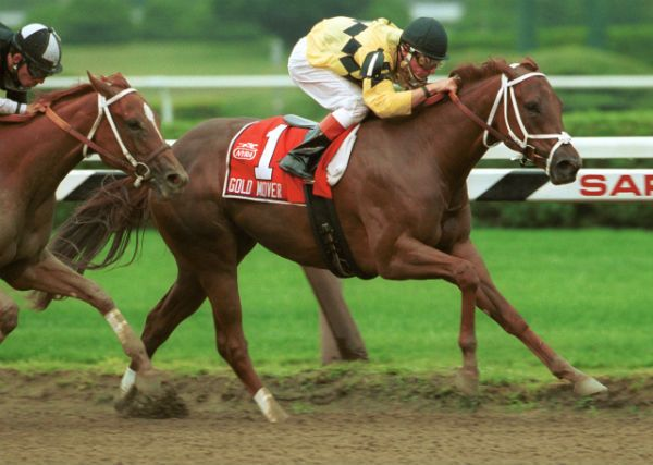 <strong>Gold Mover winning the 2000 Schuylerville Stakes.</strong>