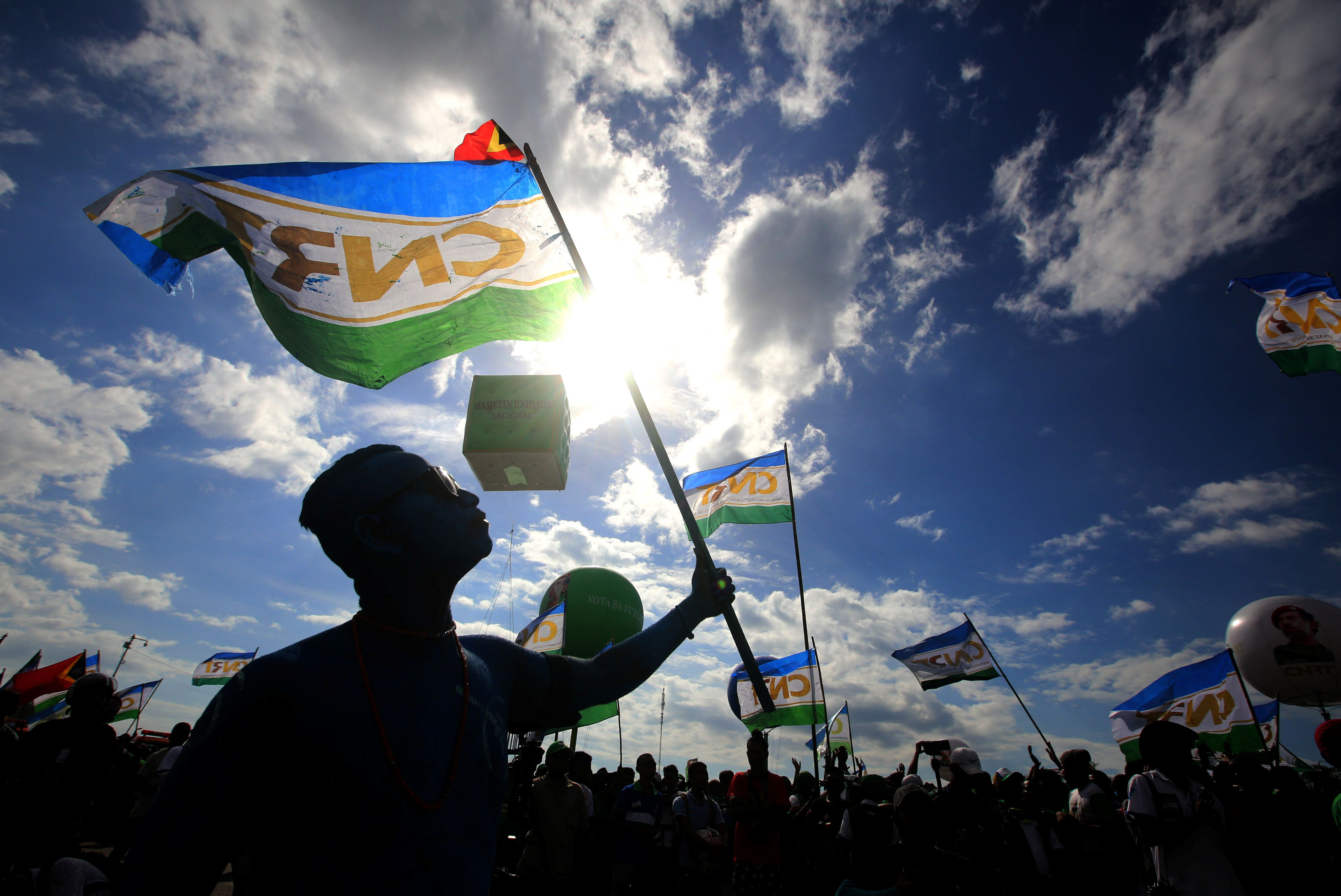 Supporters of the the National Congress for Timorese Reconstruction (CNRT) political party attend a rally ahead of this weekend's parliamentary elections in Dili, East Timor July 18, 2017. Picture taken July 18, 2017. REUTERS/Lirio Da Fonseca