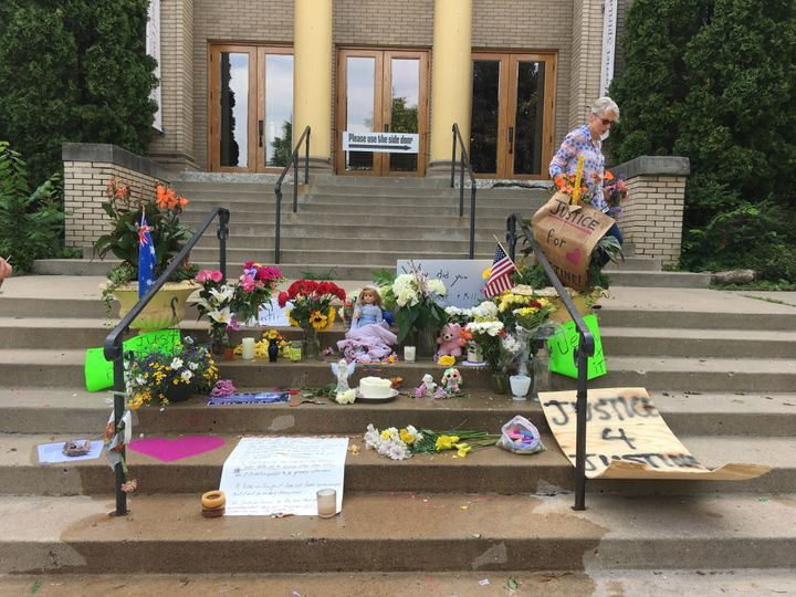 Nancy Coune, the administrator at Lake Harriet Spiritual Community, organizes a memorial for Justine Damond, who taught works