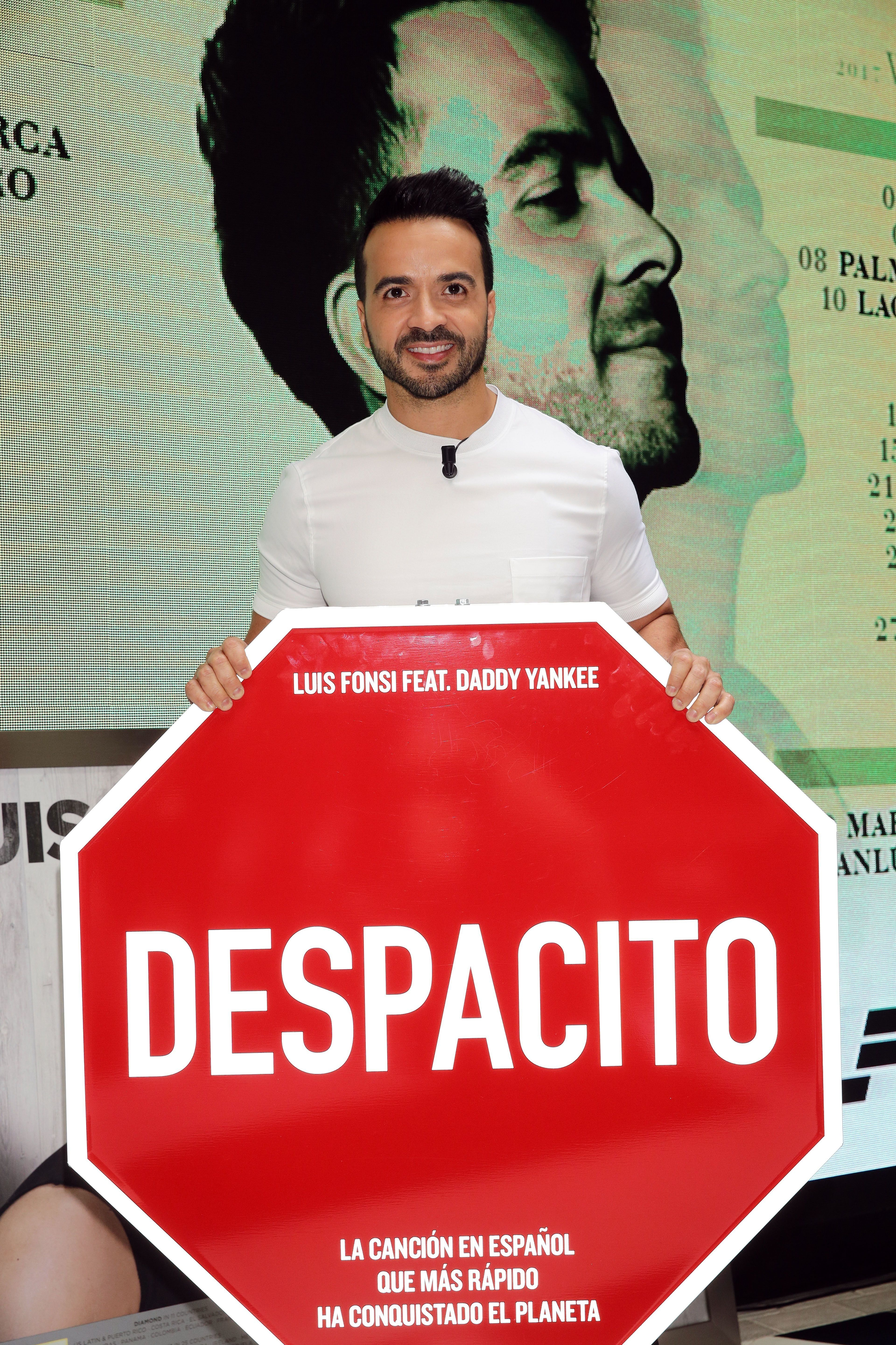 MADRID, SPAIN - JUNE 30:  Luis Fonsi presents his 'Love + Dance World Tour' and receives awards for 'Despacito' on June 30, 2017 in Madrid, Spain.  (Photo by Europa Press/Europa Press via Getty Images)