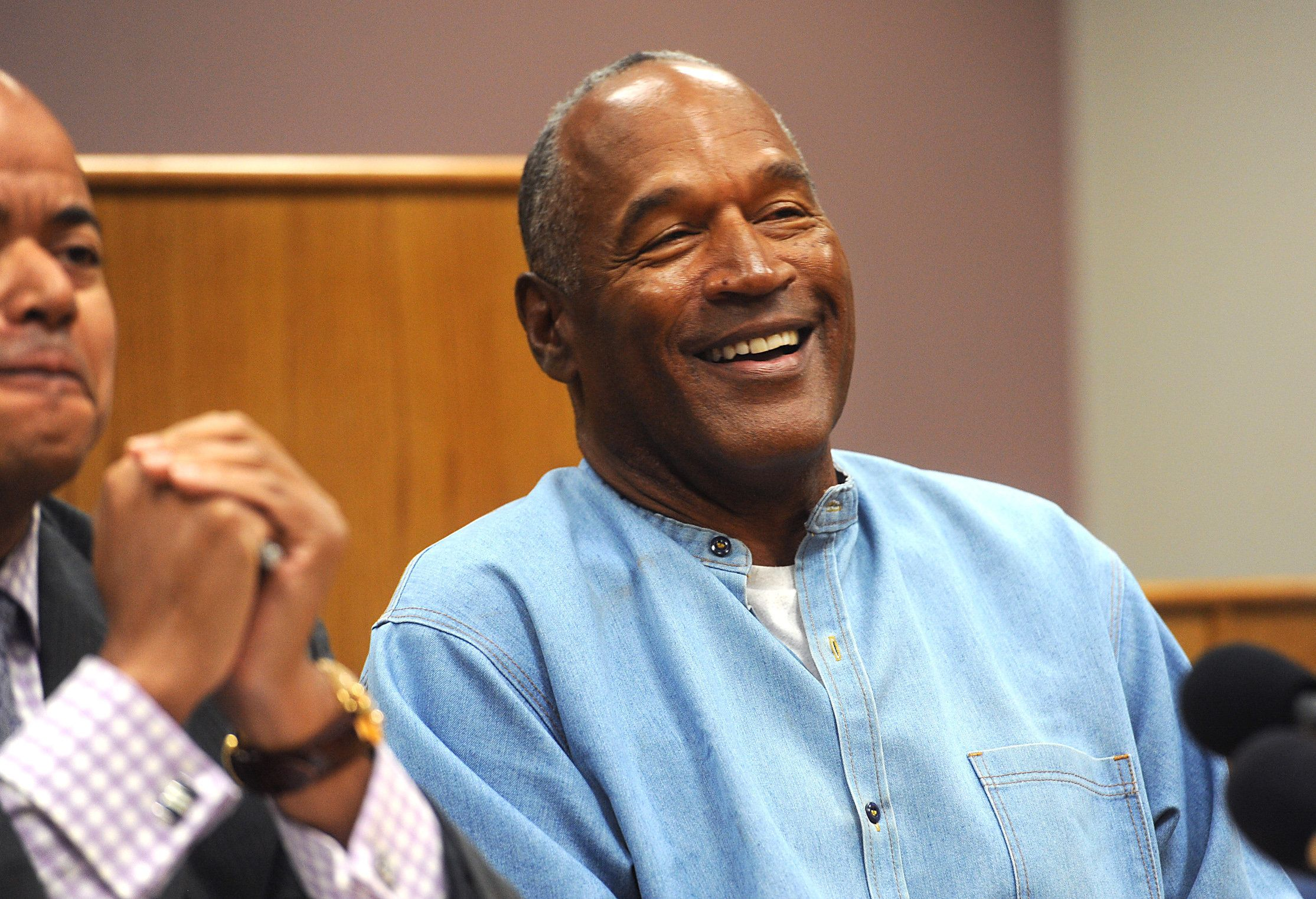 LOVELOCK, NV - JULY 20: O.J. Simpson attends his parole hearing at Lovelock Correctional Center July 20, 2017 in Lovelock, Nevada. Simpson is serving a nine to 33 year prison term for a 2007 armed robbery and kidnapping conviction. (Photo by Jason Bean-Pool/Getty Images)