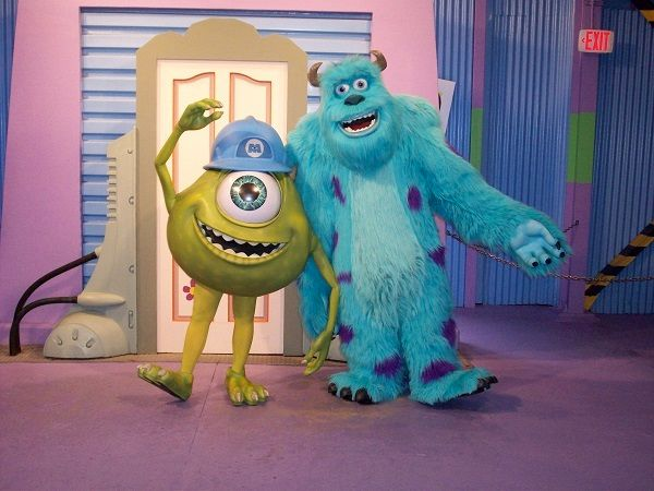 "Pixar's Mike and Hopkins at James P. ""Sulley"" Sullivan"