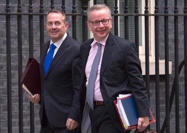 Liam Fox and Michael Gove arrive for a Cabinet