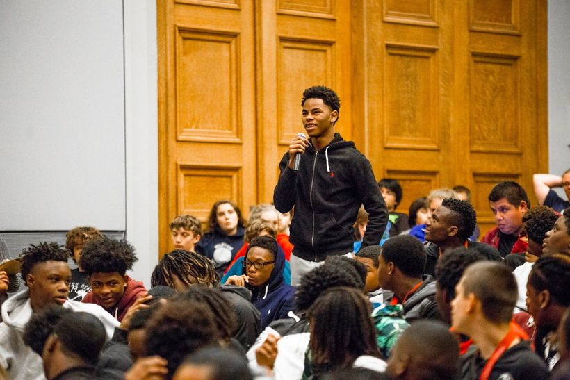 Photo Credit: Timothy M. Schmidt. Cinema/Chicago's Education Programs have a direct impact on the Chicago community.