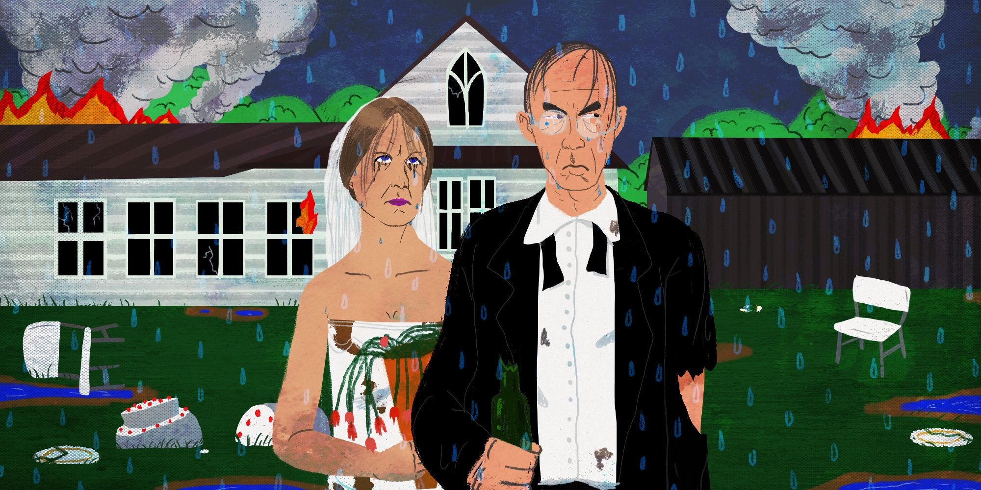 American Gothic, divorced