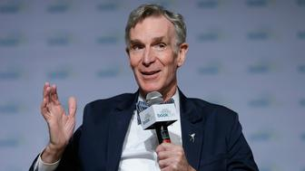 NEW YORK, NY - JUNE 04:  Bill Nye speaks during the ' Real Science, Big Adventure: Bill Nyethe ScienceGuy's New Series for Kids' panel at the BookCon 2017 at Javits Center on June 4, 2017 in New York City.  (Photo by John Lamparski/Getty Images)