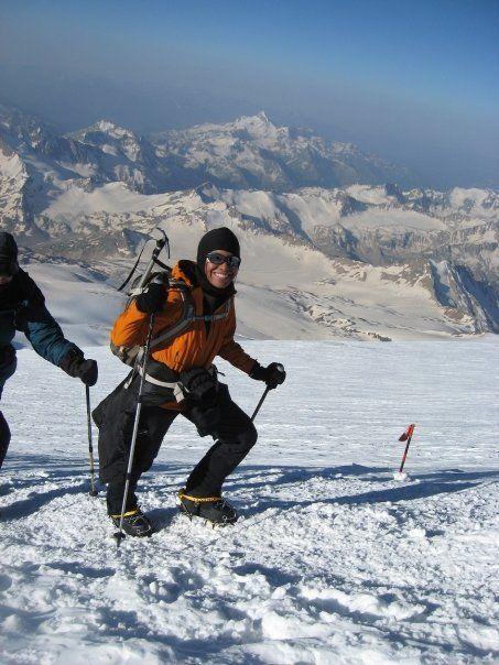 Climbing up Mt. Elbrus 2008