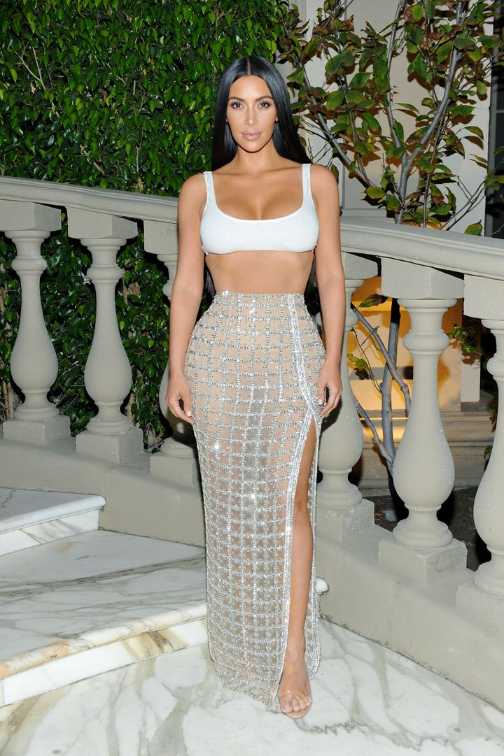 Kim Kardashian celebrates the first Los Angeles Balmain boutique opening and Beats by Dre collaboration on July 20, in Beverly Hills, California.