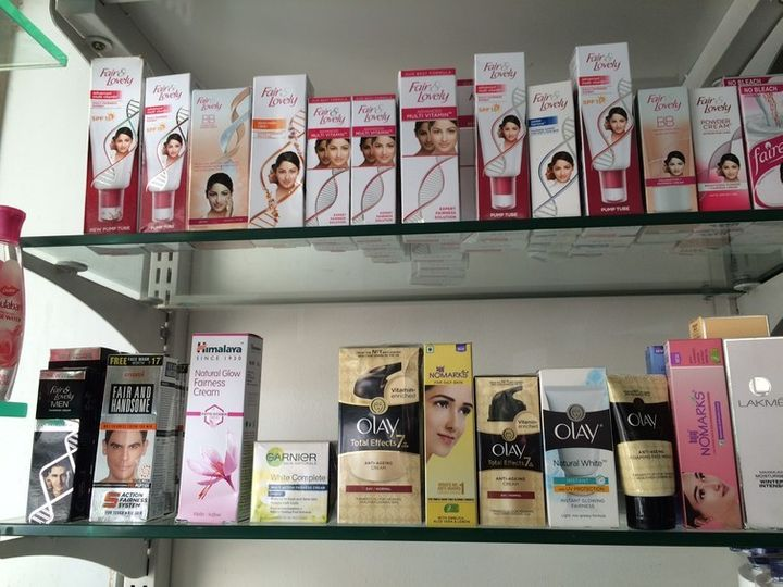 Various skin-lightening products are found across India and online, no prescription or restrictions required.