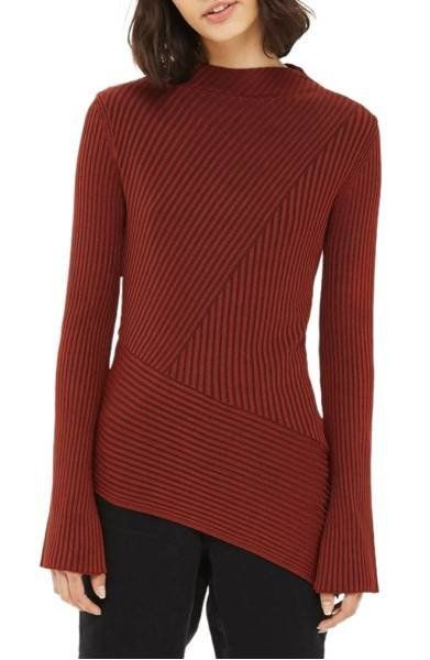 """<a href=""""http://shop.nordstrom.com/s/topshop-asymmetrical-ribbed-sweater/4670790?origin=category-personalizedsort&fashion"""