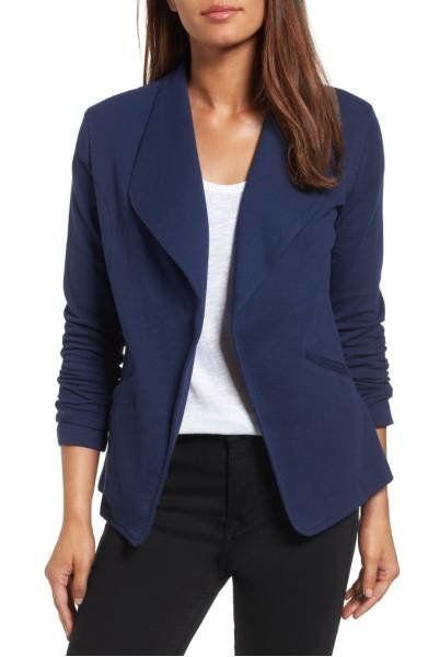 """<a href=""""http://shop.nordstrom.com/s/caslon-knit-blazer-regular-petite/4537937?origin=category-personalizedsort&fashionco"""