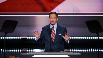 UNITED STATES - JULY 21: Tony Perkins of the Family Research Council speaks at the 2016 Republican National Convention in Cleveland, Ohio on Thursday July 201, 2016. (Photo By Bill Clark/CQ Roll Call)
