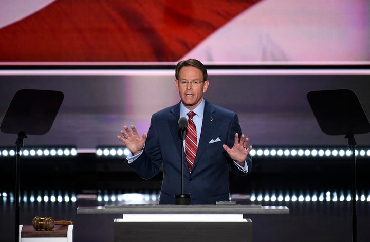 Tony Perkins of the Family Research Council speaks at the 2016 Republican National Convention.