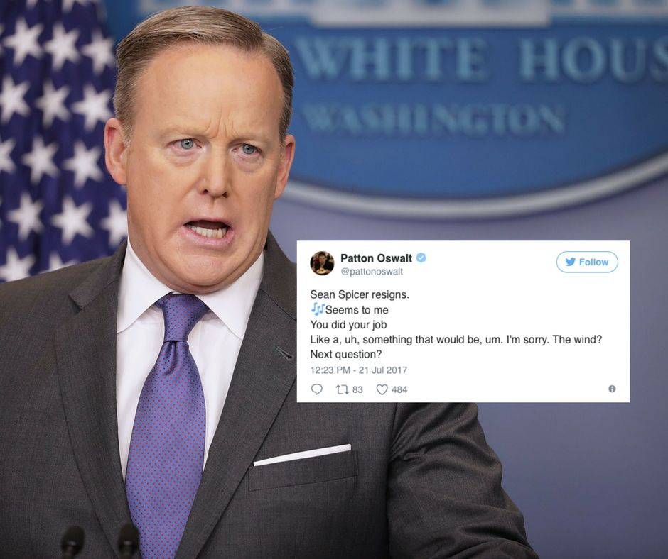 These Tweets About Sean Spicer's Resignation Will Make You