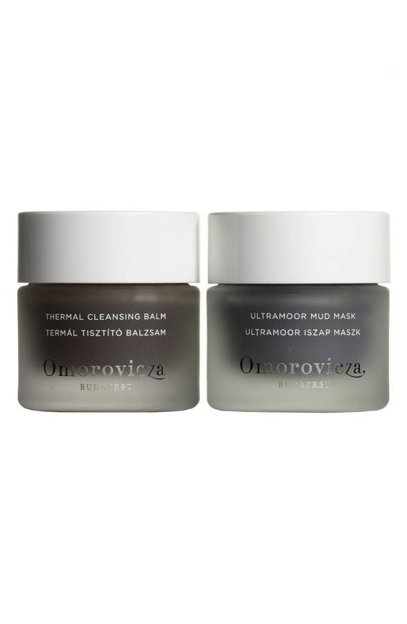 Set includes a thermal cleansing balm that's rich in Hungarian moor much, which detoxifies and purifies the skin, and an ultr