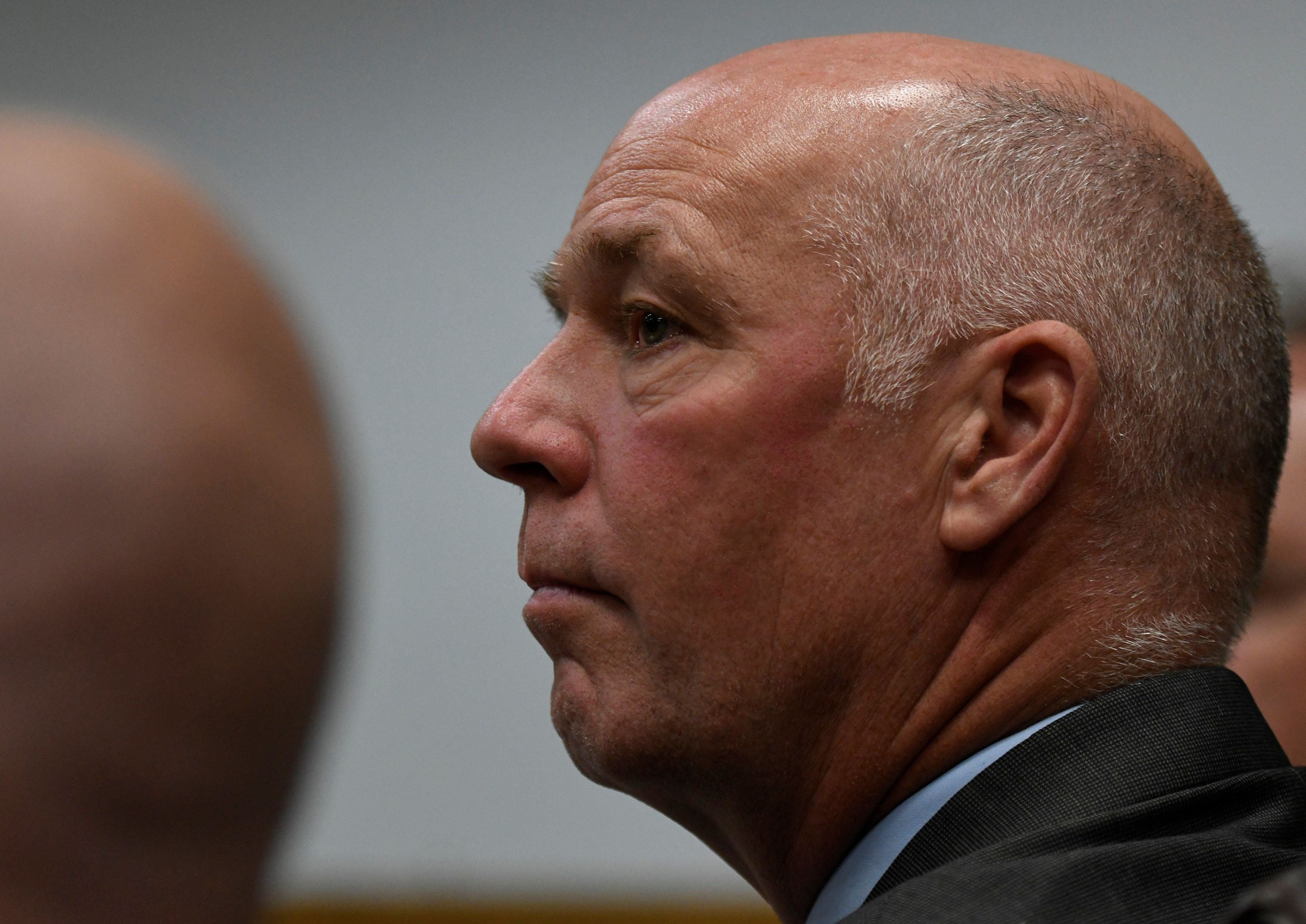 Montana congressman-elect Greg Gianforte (R-MT) appears in court to face a charge of misdemeanor assault after he was accused of attacking a reporter on the eve of his election, in Bozeman, Montana, U.S., June 12, 2017.  REUTERS/Tommy Martino