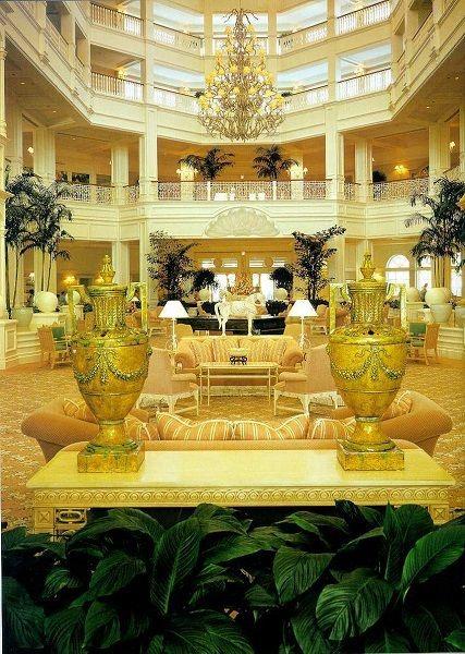 <p>The Grand Floridian Beach Resort Lobby / circa 1980s</p>