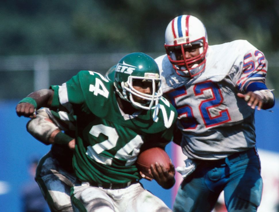 In 1990, Kessler represented New York Jets running back Freeman McNeil, seen above, in a lawsuit alleging the NFL's&nbsp