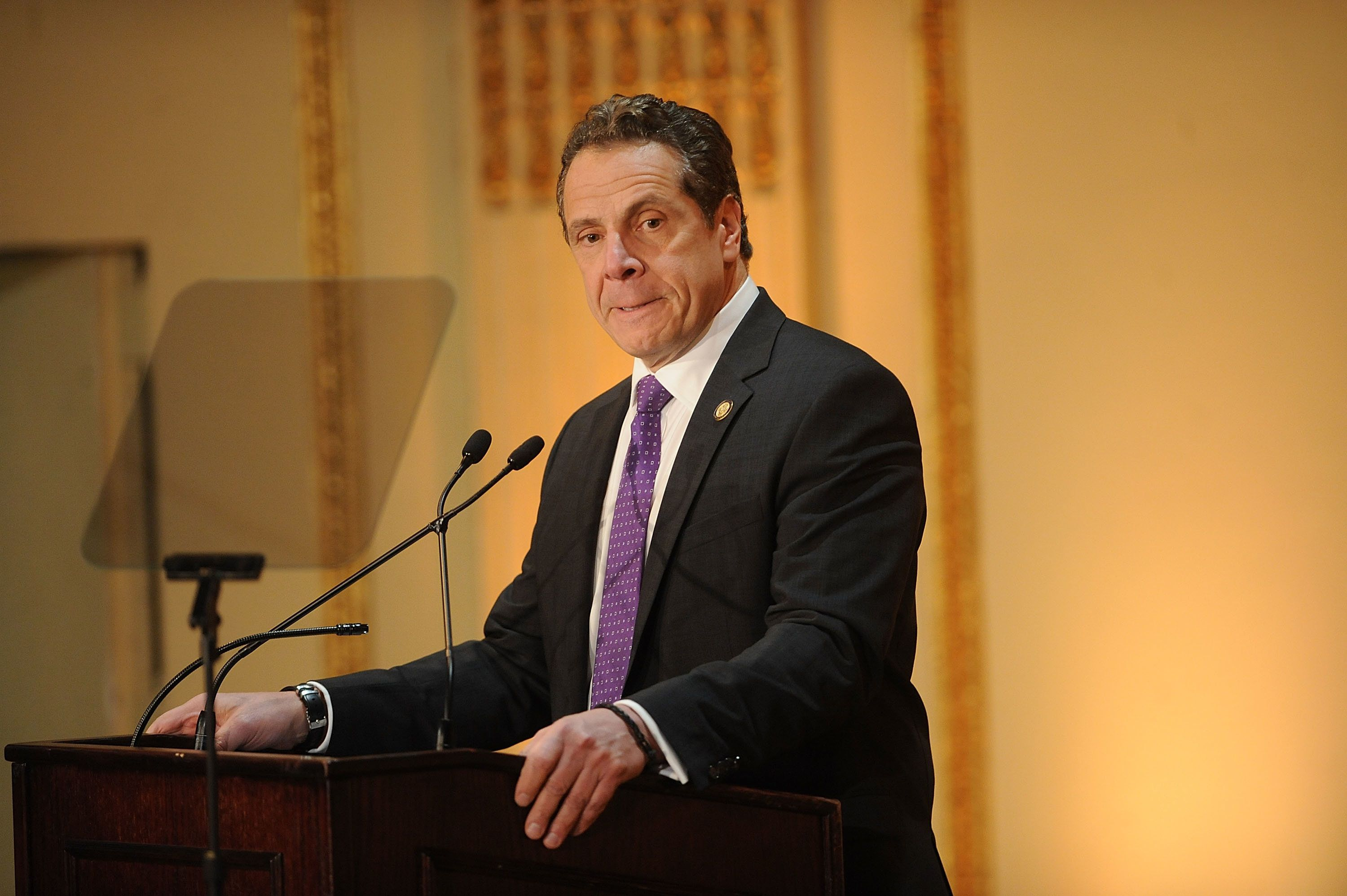 NEW YORK, NY - MARCH 16:  New York State Governor Andrew Cuomo attends the  Help USA 30th Anniversary Luncheon at The Plaza Hotel on March 16, 2017 in New York City.  (Photo by Brad Barket/WireImage)