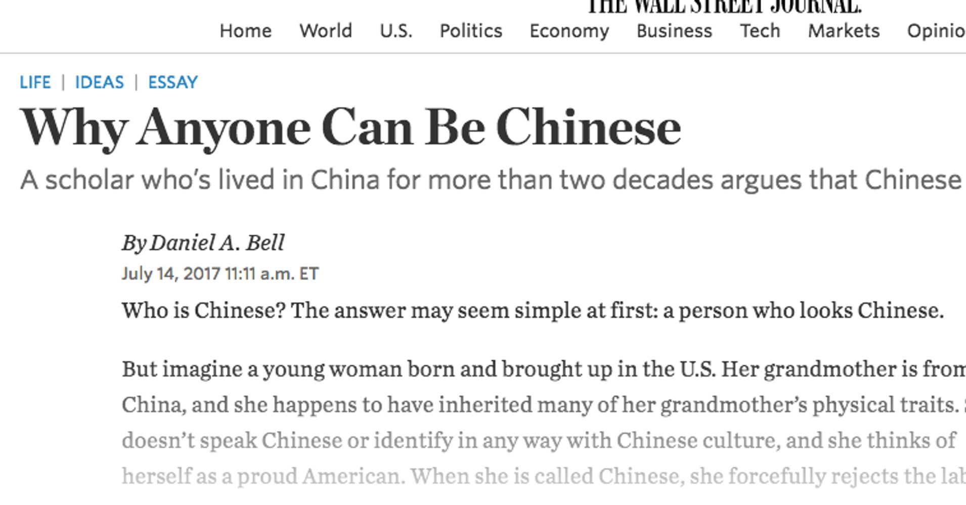 a white scholar said anyone can be chinese he s right  a white scholar said anyone can be chinese he s right huffpost