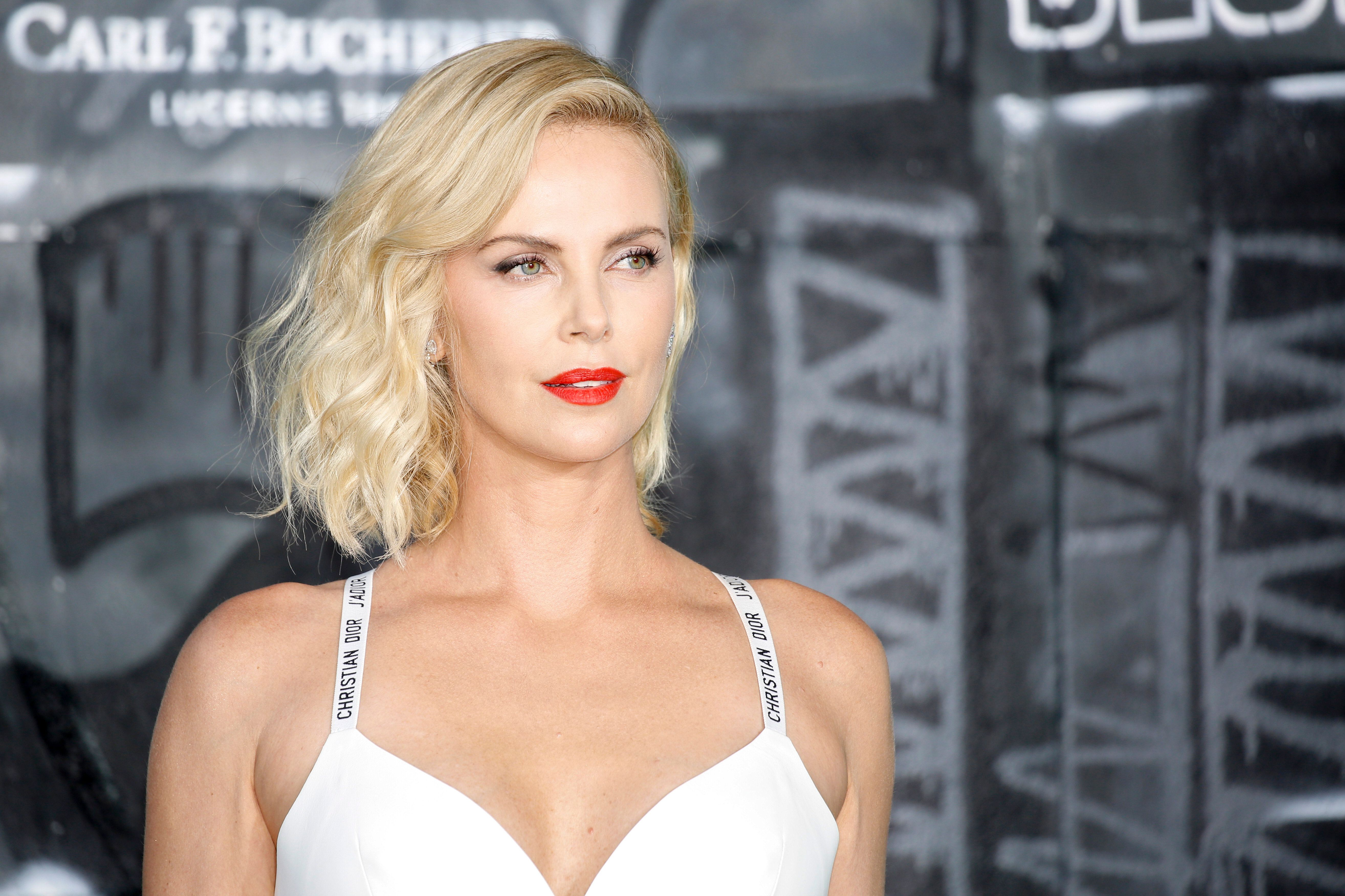 Charlize Theron attends the 'Atomic Blonde' World Premiere at Stage Theater on July 17, 2017 in Berlin, Germany.