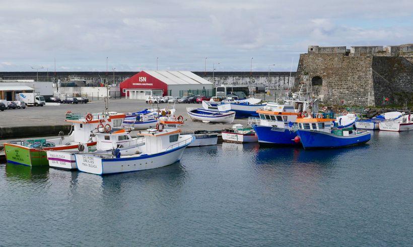 <strong>The Azores: Ponta Delgada's harbor.</strong>