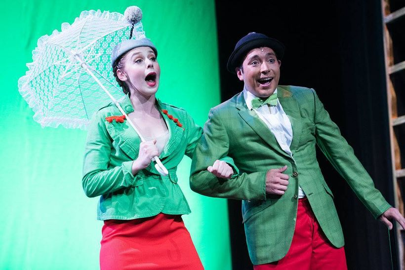 Jenny Angell and Jesse Cortez as the Mayor of Whoville and his wife in a scene from <strong><em>Seussical The Musical</em></s