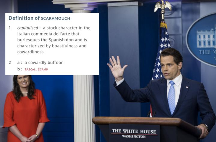 Anthony Scaramucci is the White House's new communications director. His name looks like the word scaramouch.