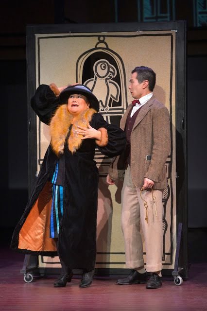 Kerry Keiko Carnahan and James Seol in a scene from<strong><em>The Four Immigrants</em></strong>