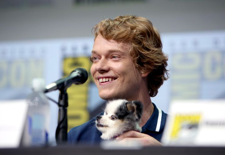 Actor Alfie Allen's dog Abby stole the show at San Diego Comic-Con International 2017 in California.