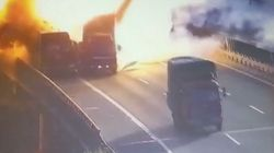 Truck Collision Sets Off Massive Explosion On Chinese