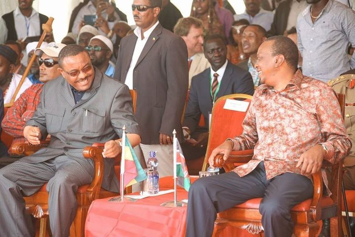 <em>President Uhuru Kenyatta of Kenya</em> <em>and</em> <em>Prime Minister Hailemariam Desalegn of Ethiopia have a shared vis