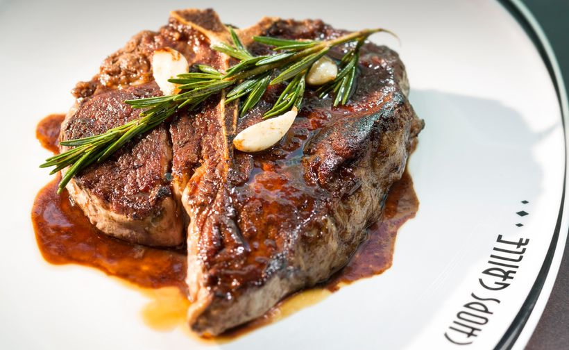 <strong>Dining upgrades: There's an extra charge for the T-bone at Chops Grille.</strong>