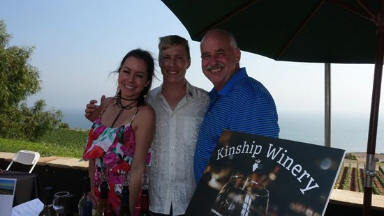From left to right, The Kinship Winery team, Danielle Cipriano, Jon Anderson and founder Jess Knauft
