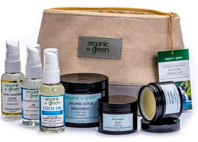 "<strong>Organic Travel Kit Deluxe </strong>from <a rel=""nofollow"" href=""https://www.organictogreen.com/products/organic-trave"
