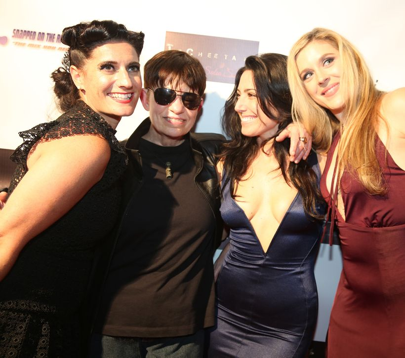 On the red carpet at Al Walser's Soiree, February 2017. L to R: Stef Mariani, Susan SurfTone, Tantra Grillo, Rachel Terlizzi.
