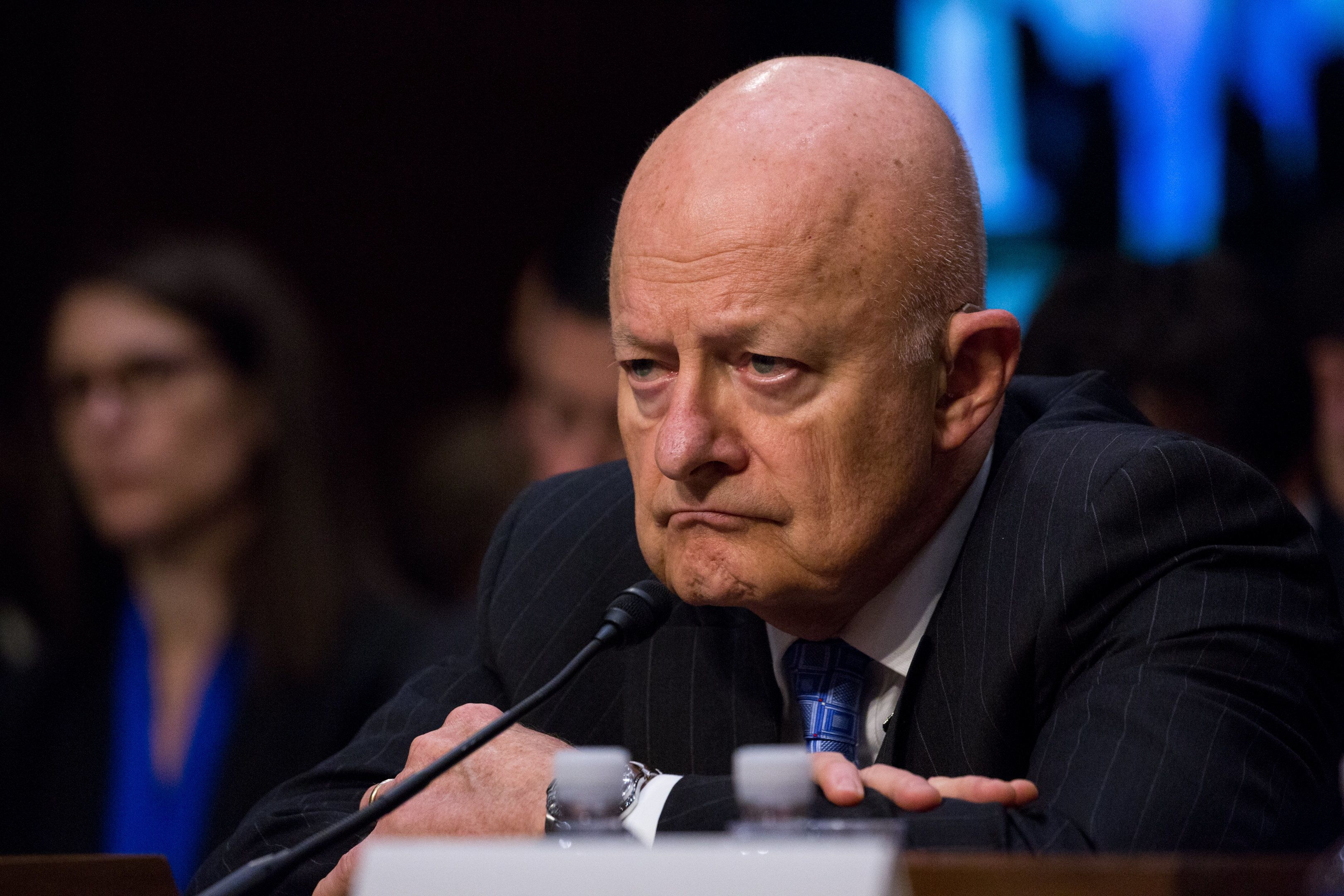 The Honorable James R. Clapper, Former Director of National Intelligence of the U.S., testifies before The Senate Judiciary Committee on Russian Interference in the 2016 United States Election,  in the Senate Hart building on Capitol Hill, on Monday, May 8th, 2017. (Photo by Cheriss May) (Photo by Cheriss May/NurPhoto via Getty Images)