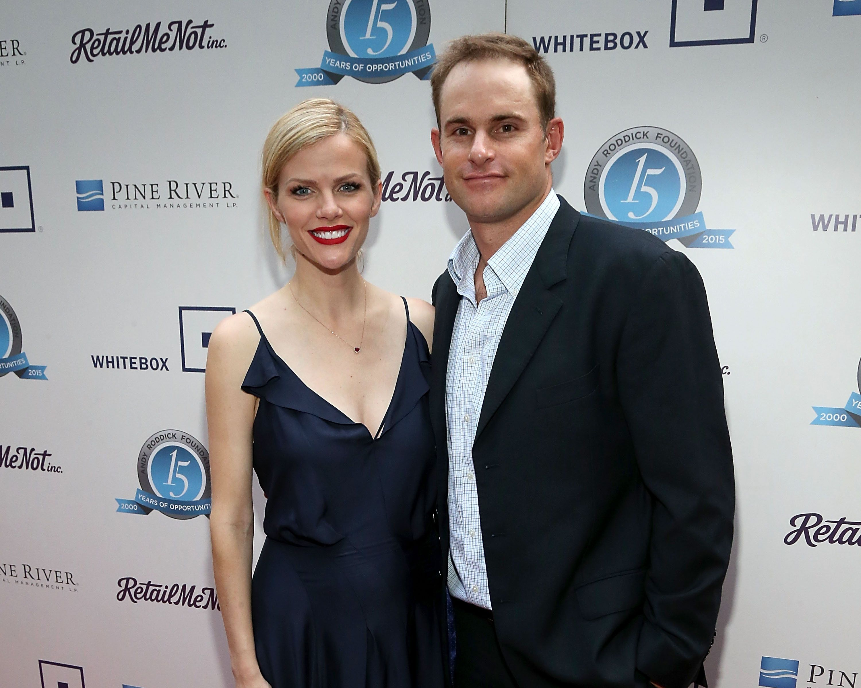 AUSTIN, TX - MAY 04:  Newly expecting couple Brooklyn Decker (L) and Andy Roddick attend the 10th Annual Andy Roddick Foundation Gala at ACL Live on May 4, 2015 in Austin, Texas.  (Photo by Gary Miller/Getty Images)