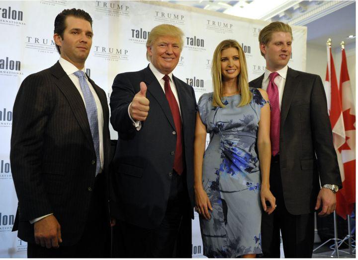 The Trumps: Donald Trump Jr., Donald Trump, Ivanka Trump, and Eric Trump.