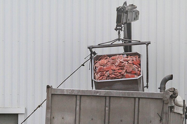 Waste meat from meat processing plants is banned from entering animal feed supplies in the EU(stock photo)