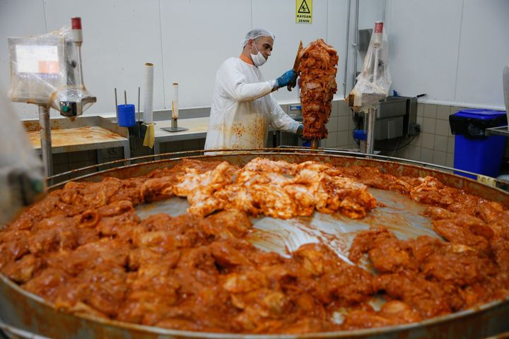 Acid-washed meat is common in the US. Producers say the process helps ward off harmful germs (stock photo)