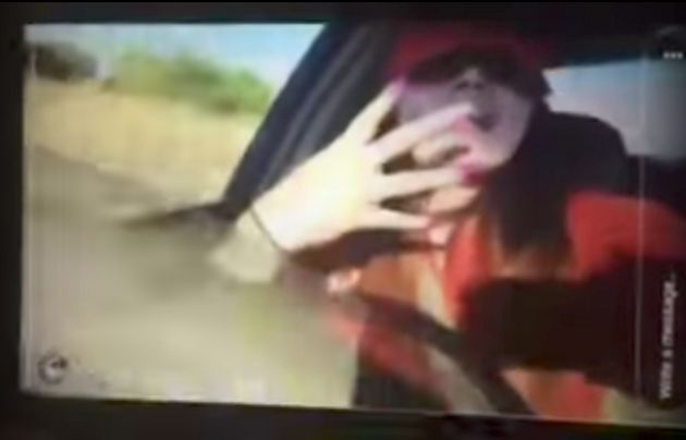This woman was rapping behind the wheel of a car in a live video before she lost control and crashed into...