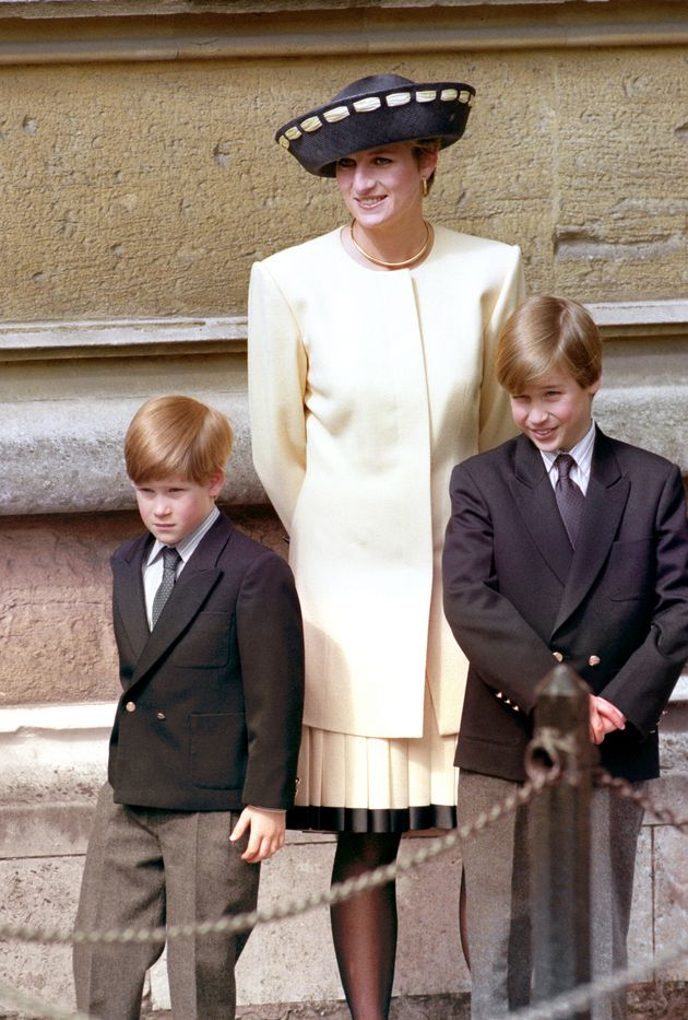 Matchy-matchy: Princess Diana with her sons in