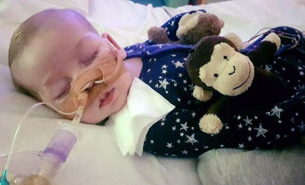 Charlie Gard suffers from a rare genetic condition and has brain damage