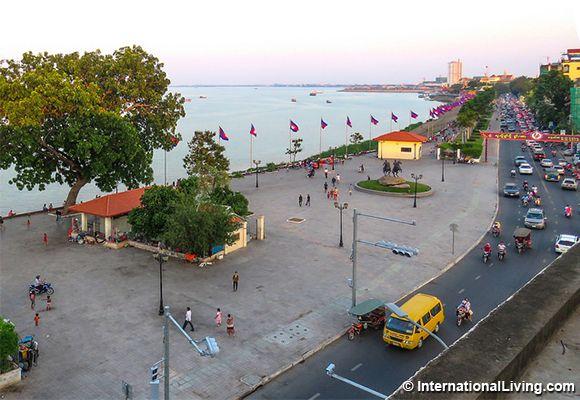 Waterfront, Phnom Penh, Cambodia