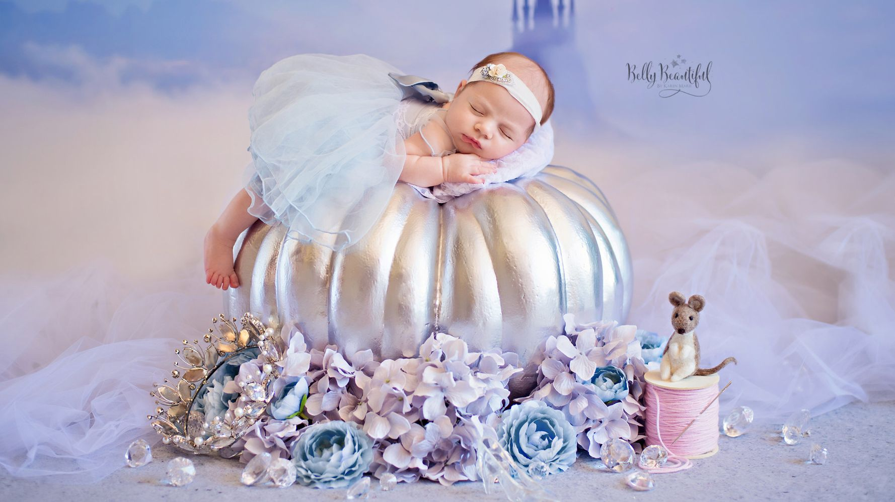 Photographer takes cute pics of babies as itty bitty disney princesses huffpost life