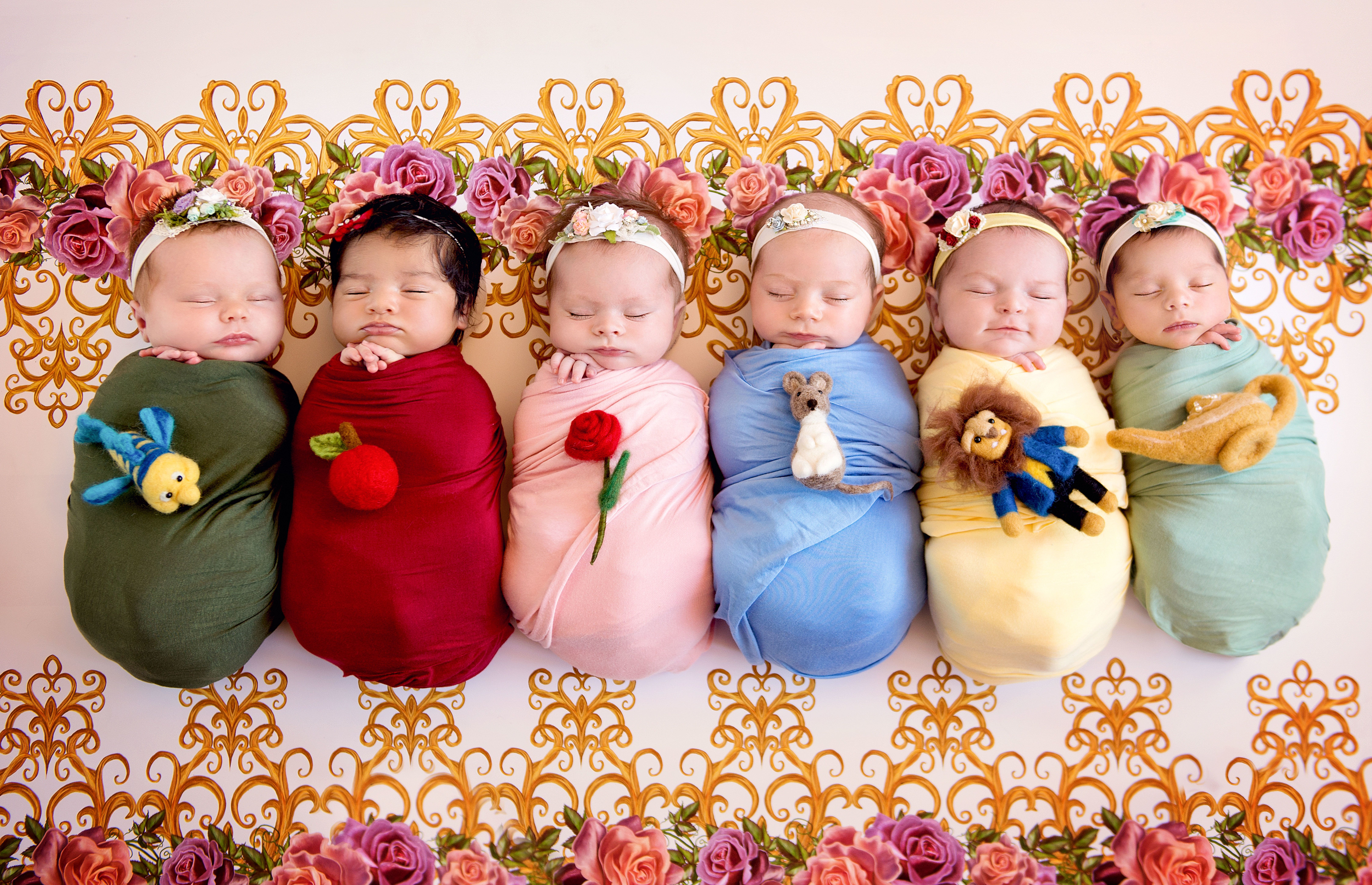 In 2017, photographer Karen Marie and these six babies took the internet by storm with their Disney princesspics.
