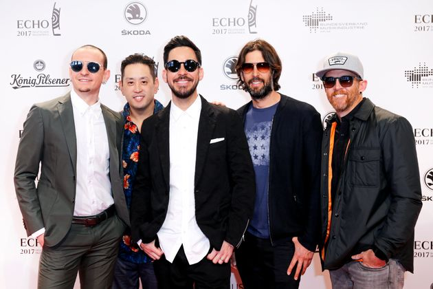 Linkin Park at a German music awards ceremony in